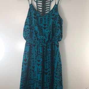 Tribal Print Flowy Dress